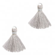 Tassels 1.5cm Silver-Light Grey