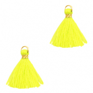 Tassels 1.5cm Gold-Neon Yellow