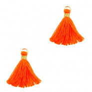 Tassels 1.5cm Gold-Neon Orange