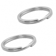 Stainless Steel findings keychain ring 23mm Silver