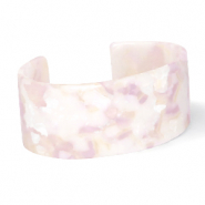 Ready-made Bracelets resin White-Pink