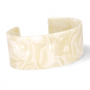 Ready-made Bracelets resin Cream Beige