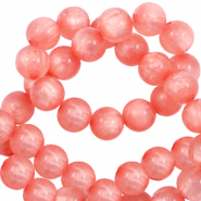 Polaris beads round 8 mm pearl shine Burnt Coral Pink