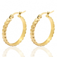 Stainless steel earrings creole 25mm Gold
