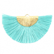 Tassels charm Gold-Tiffany Blue