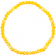 Top faceted bracelets 4x3mm Freesia Yellow Opal-Pearl Shine Coating