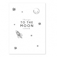 Jewellery cards 'I love you to the moon and back' White