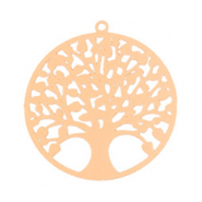Bohemian charms tree of life 25mm Rose Gold (nickel free)