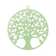 Bohemian charms tree of life 25mm Meadow Green (nickel free)