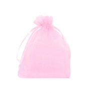 Jewellery organza bags 7x9cm Pink Rose