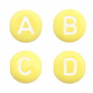 Acrylic letter beads mix Yellow