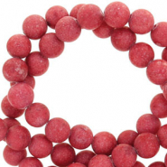 4 mm natural stone beads round mountain jade matt Port Red
