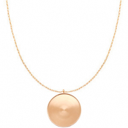 Polaris Steel necklace with setting for 35mm cabochon Rose Gold