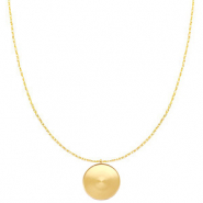 Polaris Steel necklace with setting for 20mm cabochon Gold