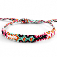 Ready-made Bracelets/Anklets Brazilian style| One size fits all Multicolour Orange-Pink