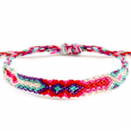 Ready-made Bracelets/Anklets Brazilian style| One size fits all Multicolour Pink-Blue