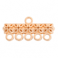 DQ European metal charms bar with 5 loops Rose Gold (nickel free)
