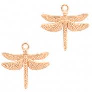 DQ European metal charms dragonfly Rose Gold (nickel free)