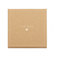 Jewellery (gift) box 'for you ♥' Brown