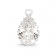 Crystal glass charms drop Crystal-Silver