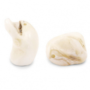 Shell beads nugget shape Off White