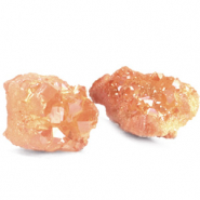 Chips stone beads crystal quartz Coral Peach
