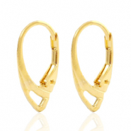 Findings TQ metal earrings closable oval Gold