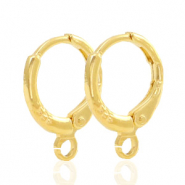 Findings TQ metal earrings closable 1 loop 11mm Gold