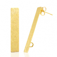Findings TQ metal earrings rectangle 1 loop Gold