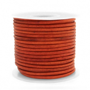 Benefit package DQ leather round 2 mm Vintage Fired Orange