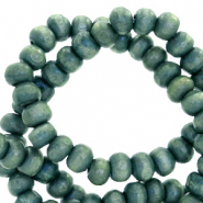 Wooden beads round 6mm Nature Wood-Legion Blue