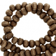 Wooden beads round 6mm Nature Wood-Dark Brown