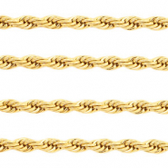 Stainless Steel findings belcher chain twist Gold