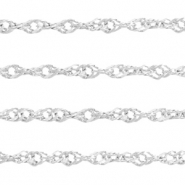 Stainless Steel findings weave belcher chain 1.8mm Silver