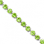 Rhinstone chain Lime Green-Silver