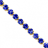 Rhinstone chain Cobalt Blue-Gold