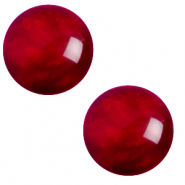 12 mm classic Polaris Elements cabochon pearl shine Rubino Red