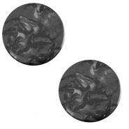 12 mm flat Polaris Elements cabochon Lively Carbone Black