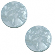 12 mm flat Polaris Elements cabochon Lively Acquario Blue