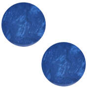 12 mm flat Polaris Elements cabochon Lively Iolite Blue