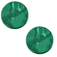 12 mm flat Polaris Elements cabochon Lively Agata Green