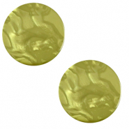 20 mm flat Polaris Elements cabochon Lively Origano green