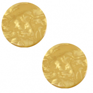 20 mm flat Polaris Elements cabochon Lively Curry Yellow