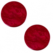 20 mm flat Polaris Elements cabochon Lively Rubino Red