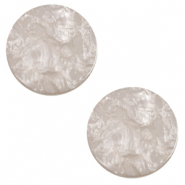 20 mm flat Polaris Elements cabochon Lively Acciaio Grey