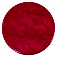 35 mm flat Polaris Elements cabochon Lively Rubino Red