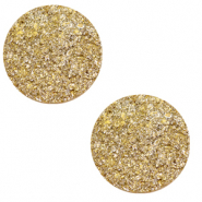 12 mm flat Polaris Elements cabochon Goldstein Curry Yellow