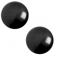 12 mm classic Polaris Elements cabochon soft tone Nero Black