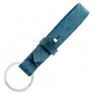 Cuoio key chain 15 mm Blue Wing Teal