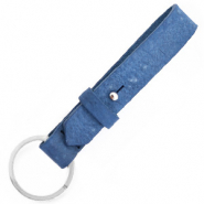 Cuoio key chain 15 mm Victoria Blue